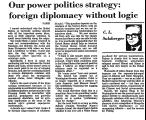 Our Power Politics Strategy:...