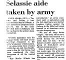 Selassie Aide Taken by Army