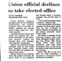 Union Official Declines to Take...