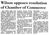 Wilson Opposes Resolution of...