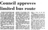 Council Approves Limited Bus Route