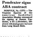 Pondexter Signs ABA Contract