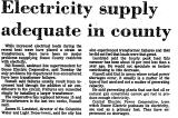 Electricity Supply Adequate in...