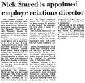 Nick Smeed is Appointed Employe...