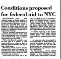Conditions Proposed for Federal...