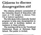 Citizens to Discuss Desegregation...