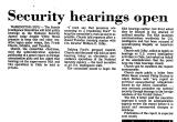 Security Hearings Open