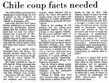 Chile Coup Facts Needed
