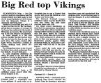 Big Red Top Vikings