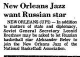 New Orleans Jazz Want Russian Star