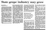 State Grape Industry May Grow