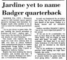 Jardine Yet to Name Badger...