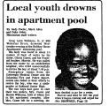 Local Youth Drowns in Apartment...