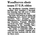 Woodhaven Choir Tours 17 U. S....