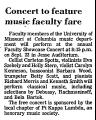 Concert to Feature Music Faculty...
