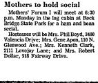 Mothers to Hold Social