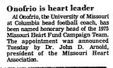 Onofrio is Heart Leader