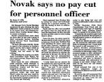 Novak Says No Pay Cut for...