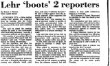 Lehr `Boots' 2 Reporters
