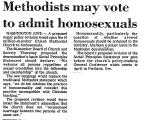 Methodists May Vote to Admit...