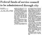 Federal Funds of Service Council...
