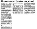 Hearnes Case: Banker Acquitted
