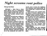 Night Screams Rout Police