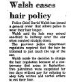 Walsh Eases Hair Policy