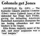 Colonels Get Jones