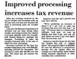 Improved Processing Increases Tax...