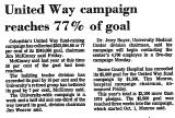 United Way Campaign Reaches 77%...