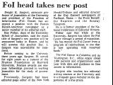 Fol Head Takes New Post