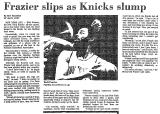 Frazier Slips as Knicks Slump