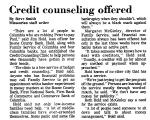 Credit Counseling Offered