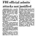 FBI Official Admits Attacks Not...