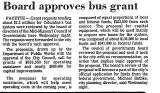 Board Approves Bus Grant