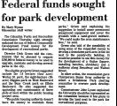 Federal Funds Sought for Park...
