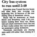 City Bus System to Run Until 5: 40