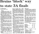 Bruins 'Block' Way to State 3a...