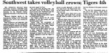 Southwest Takes Volleyball Crown;...