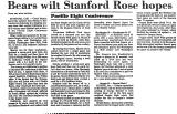 Bears Wilt Stanford Rose Hopes