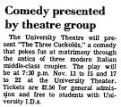 Comedy Presented by Theatre Group