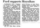 Ford Supports Moynihan
