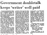 Government Doubletalk Keeps...