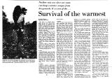 Survival of the Warmest