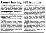 Court Having Bill Troubles