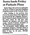 Santa Lands Friday at Parkade...