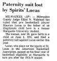 Paternity Suit Lost by Spirits'...