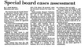 Special Board Eases Assessment