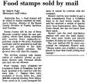 Food Stamps Sold by Mail